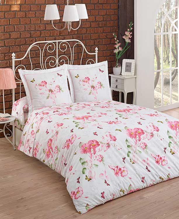Fleurs roses et feuillage verdoyant sont disponible sur flower power for Grandes marques de linge de maison