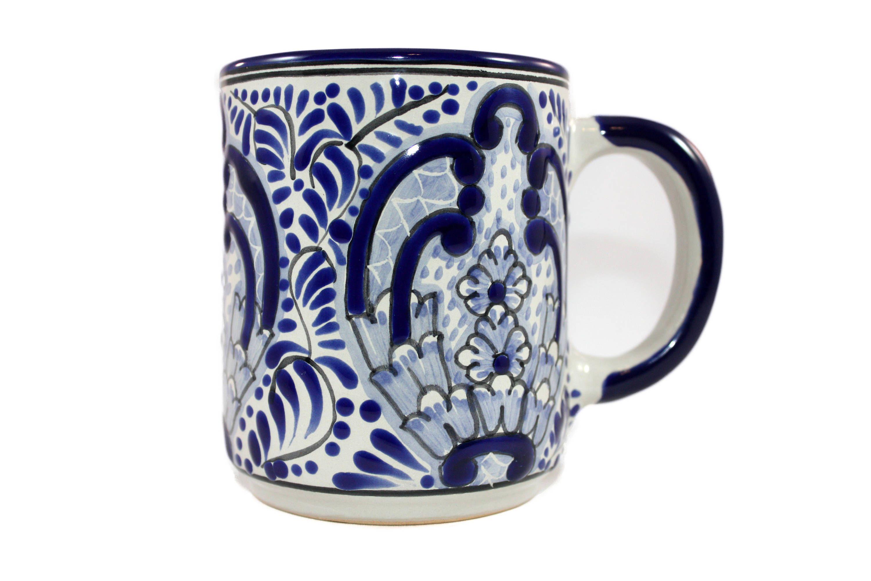 56f136fcd9c Taza Chocolate de Talavera | Certified Talavera Pottery | Mugs ...