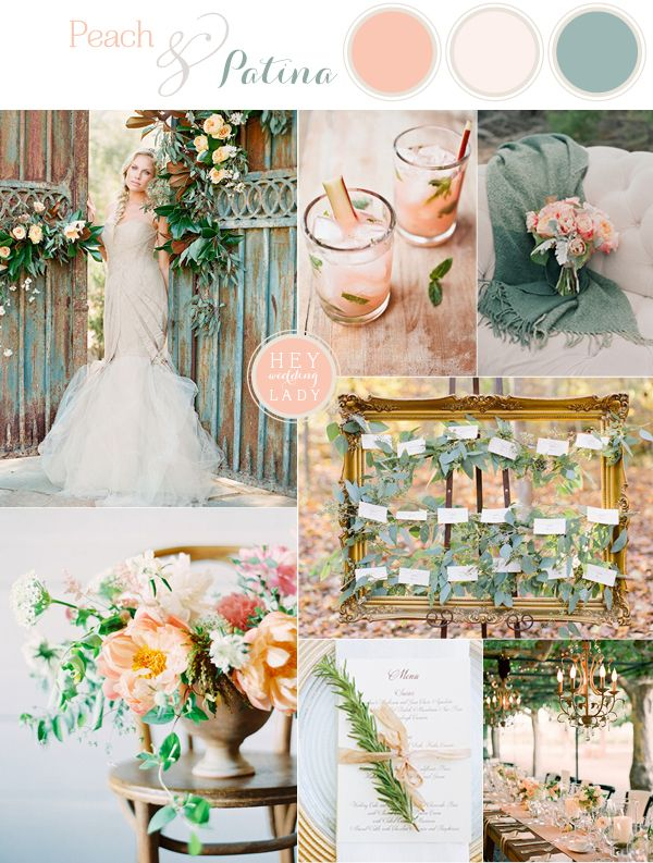 Peach And Patina End Of Summer Garden Wedding Wedding Palette