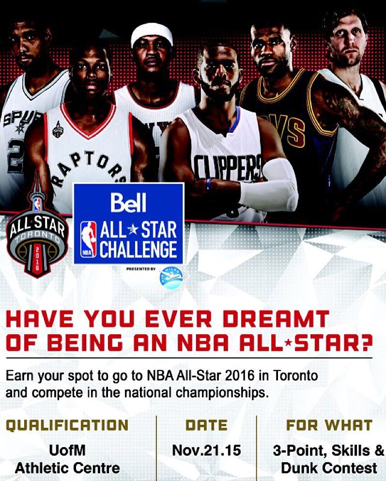 Basketball Manitoba On Instagram Join Us This Saturday For The Bell Nba All Star Challenge Presented By Athletic Center Basketball Game Time All Star