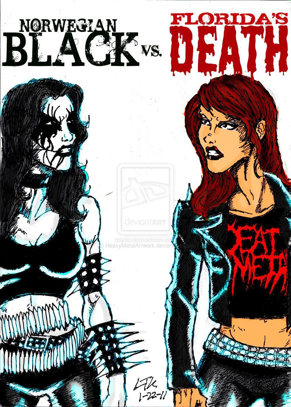 heavy metal metalhead memes | Black Metal Vs. Death Metal ...