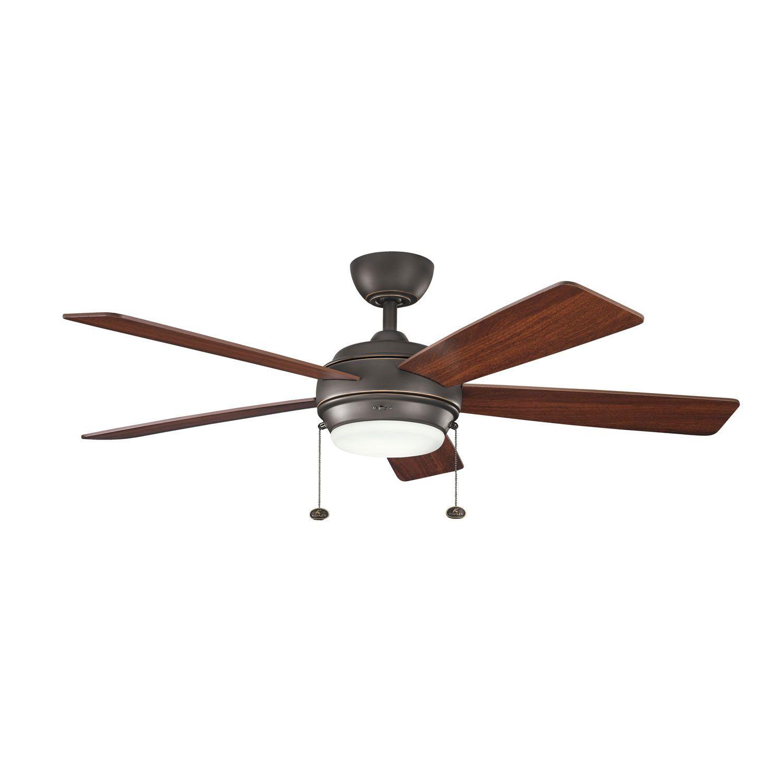 Kichler Starkk Olde Bronze One Light Ceiling Fan