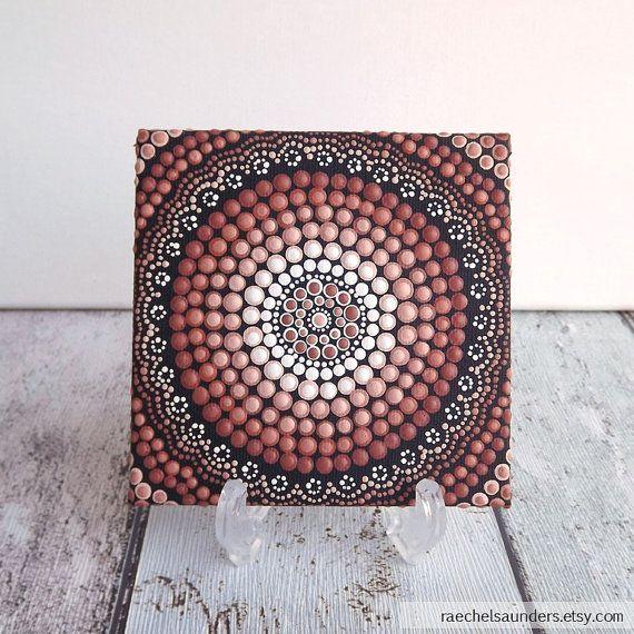Australian Aboriginal Art Dot Art Authentic Earth Design Acrylic