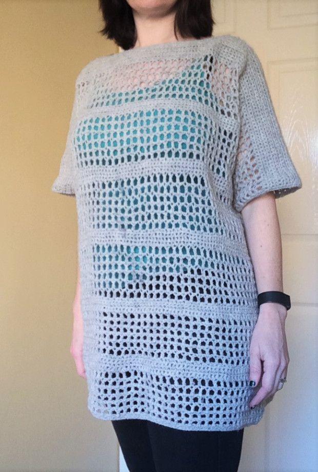 Open Mesh Crochet Top – a free crochet pattern – PatternPiper.Com ...
