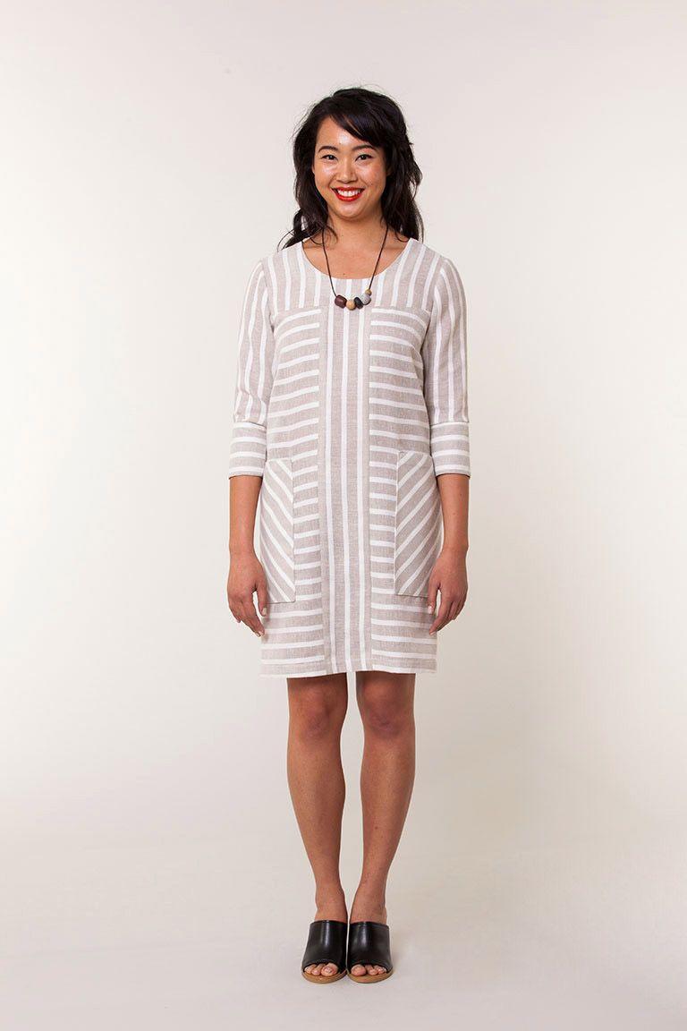 Sonya shift pattern 3 sleeve options multiple colorblock options dress patterns jeuxipadfo Image collections