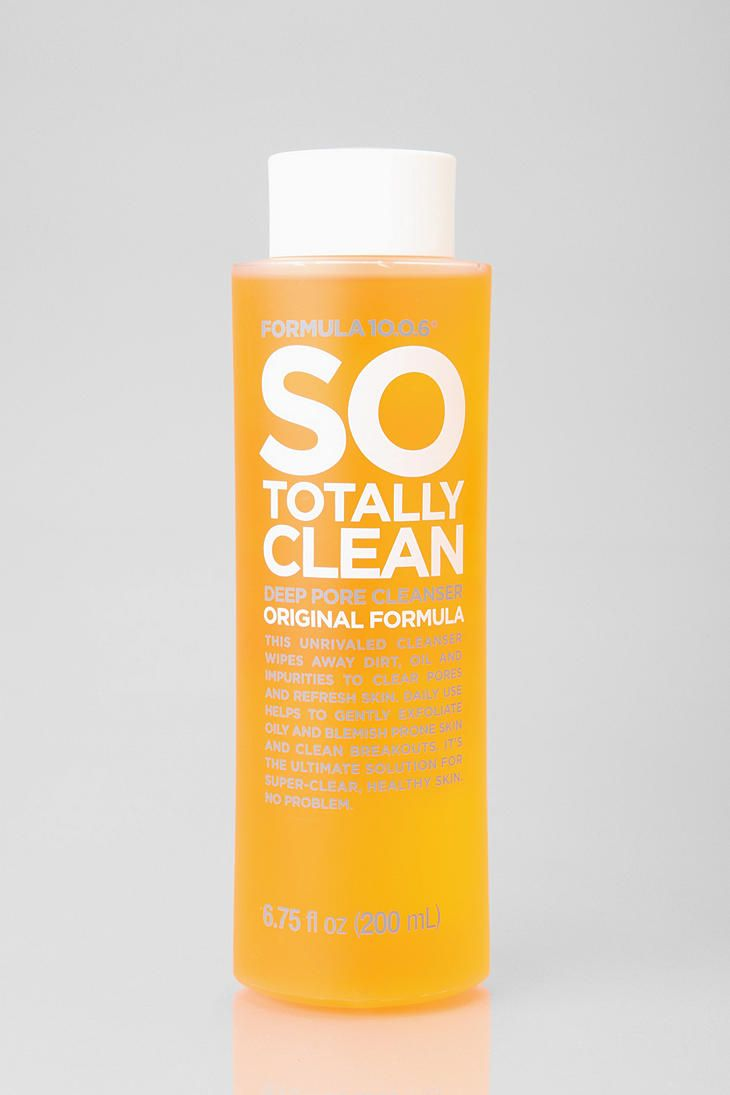 So Totally Clean Deep Pore Cleanser Original Formula - 6.75 fl. oz. by Formula 10.0.6 (pack of 4) Nourish Organic Moisturizing Face Cleanser, Cucumber & Watercress, 6 Fluid Ounce