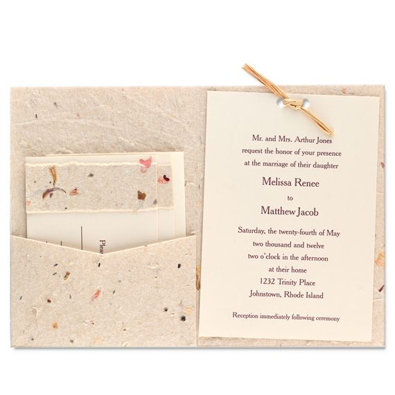 Recycled Wedding Invitations: Recycled Paper Wedding Invitations