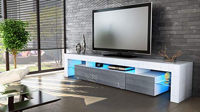 vladon tv schrank lowboard fernsehschrank fernsehtisch wohnzimmer lima v2 in weiss avola anthrazit