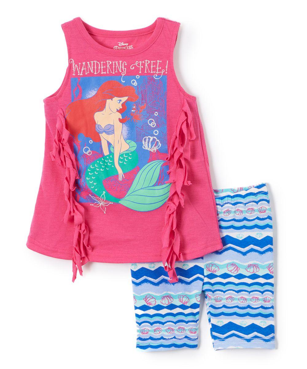 3ad7200495 Pink Disney Princess Ariel Tank & Shorts - Toddler & Girls ...
