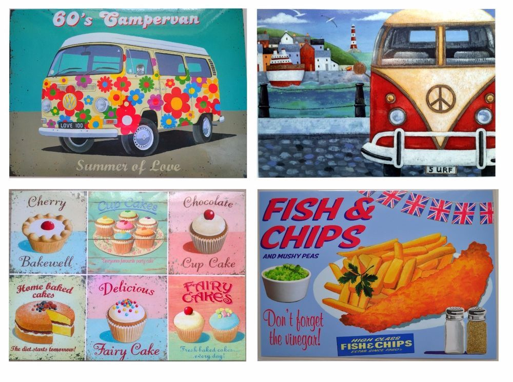 Martin Wiscombe Retro Days Placemats Table Mats Cupcakes Campervans Amp Cream Teas Retro Placemats Cream Tea