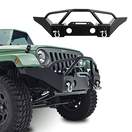 Amazon Com Hooke Road Jeep Wrangler Front Bumper Rock Crawler