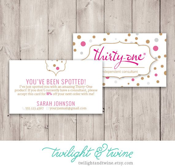 Thirty-one Glam Dots Youu0027ve Been Spotted by TwilightAndTwine - new vistaprint norwex
