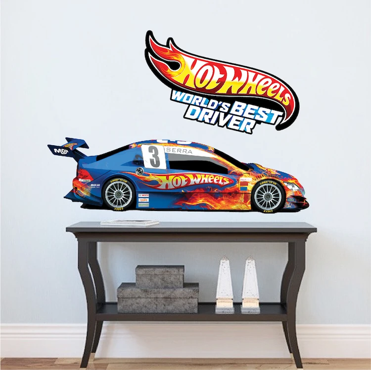 race car boys wall decal kid s racing decor wall art for on wall stickers for kids id=88407
