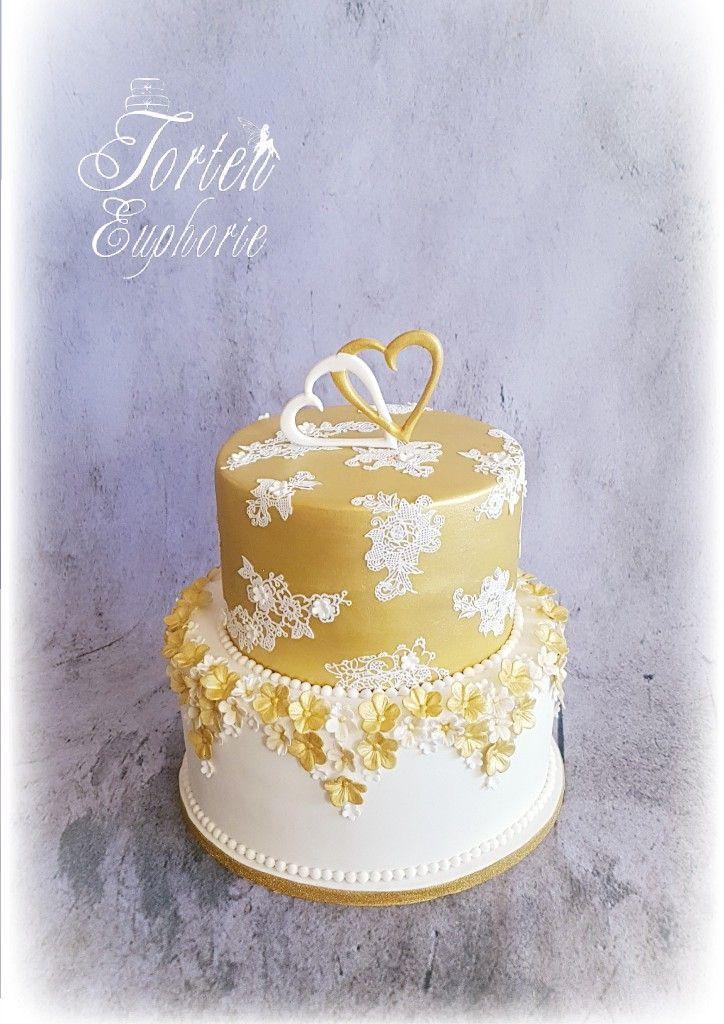 Weiss Gold Hochzeit Torte Torte Zur Goldenen Hochzeit Motivtorten Goldene Hochzeit Motivtorten Hochzeit