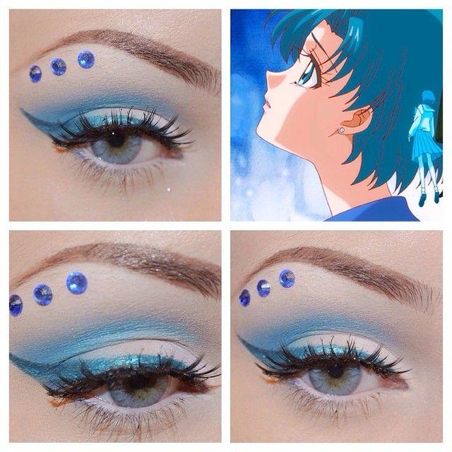 Sailormooncrystal Sailor Mercury Inspired Sailor Moon Makeup Carnival Makeup Sailor Mercury