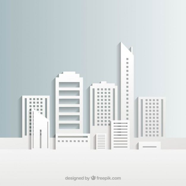 Download White City Buildings For Free City Buildings City Vector City Illustration