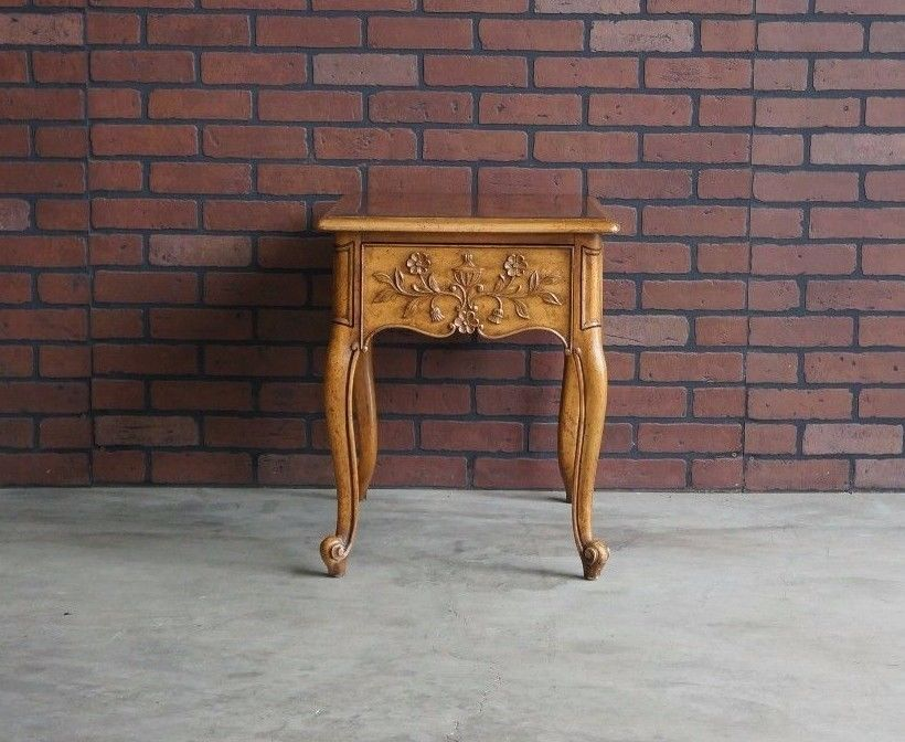 End Table French Provincial End Table Country French Accent
