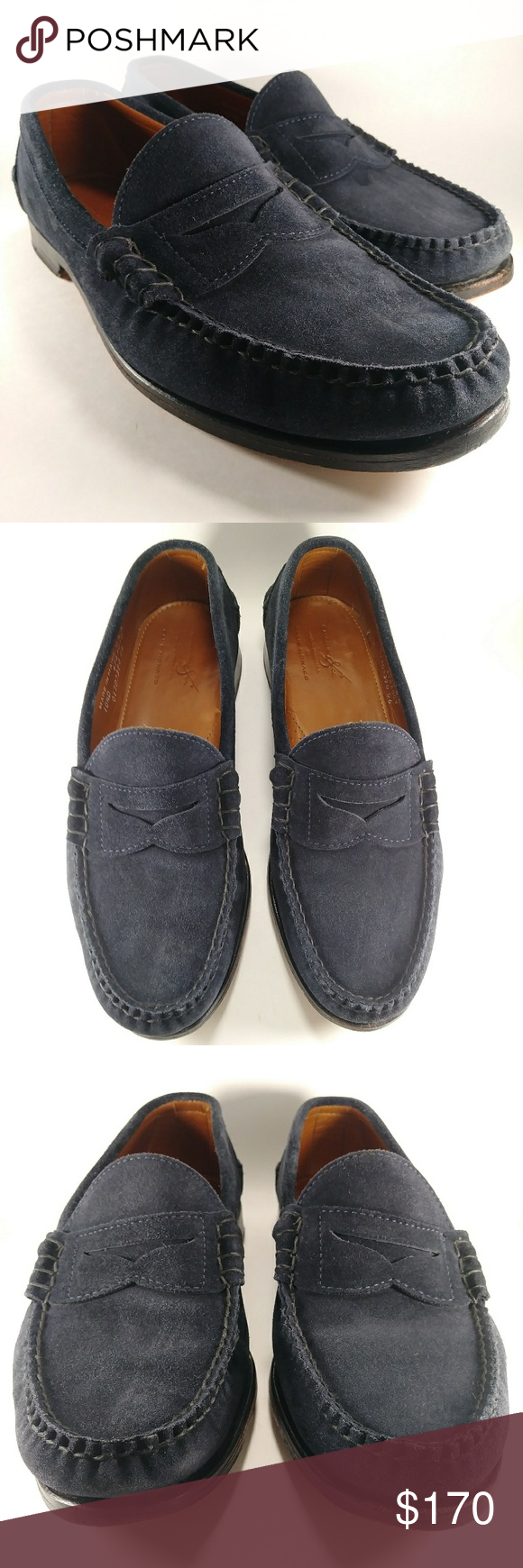 b4243c821d7 Rancourt Blue Suede Beefroll Penny Loafer 10.5D Rancourt   Co Club Monaco  (collab)