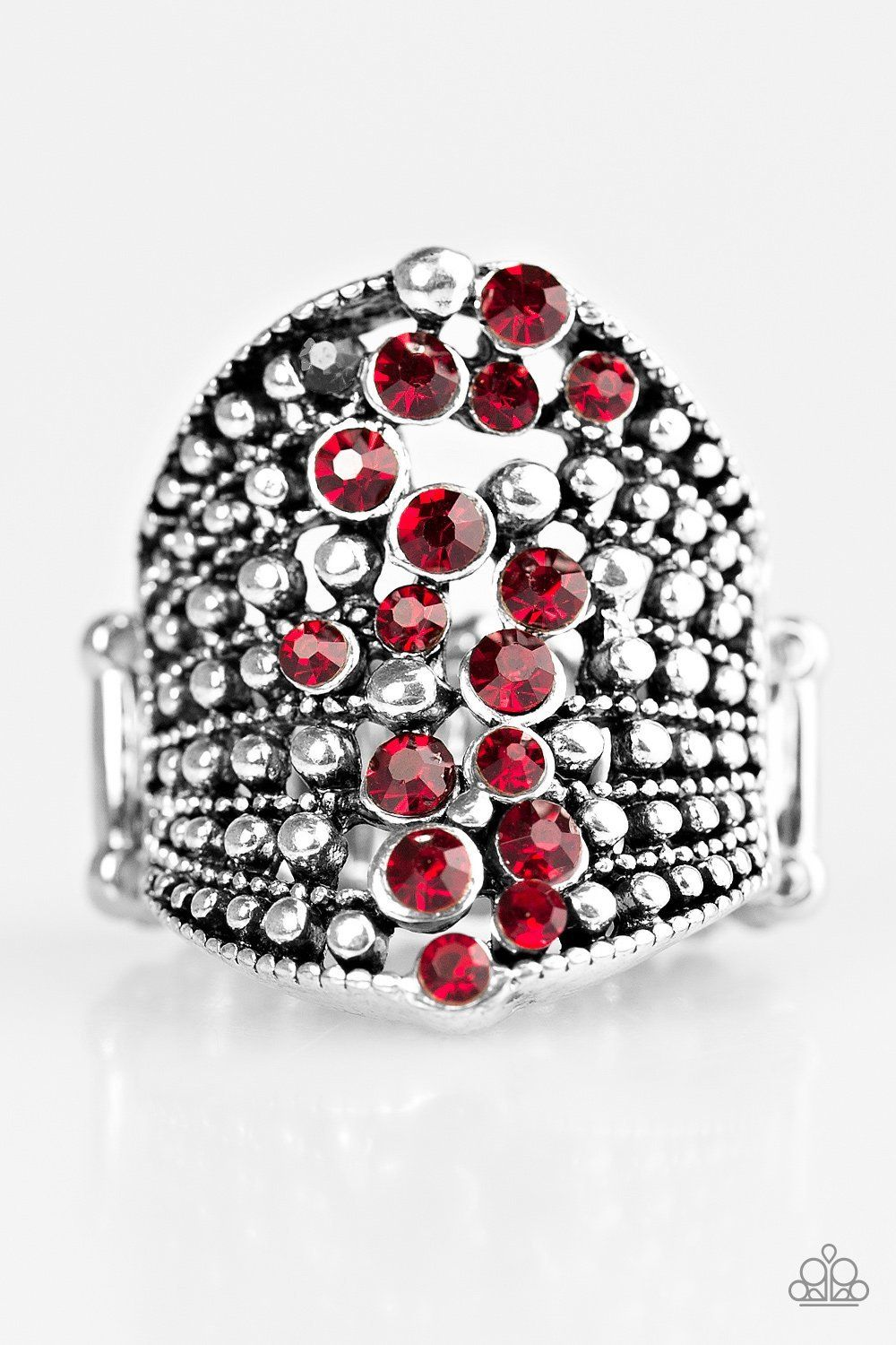 silver trendy glass p red women ring rings for plated oval wholesale