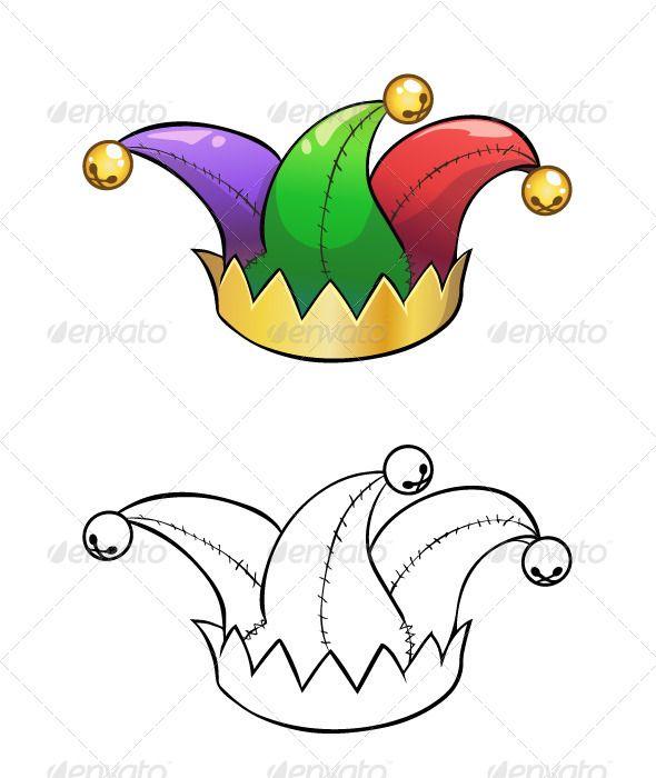 Jester Hat Jester Hat Clown Hat Cap Drawing