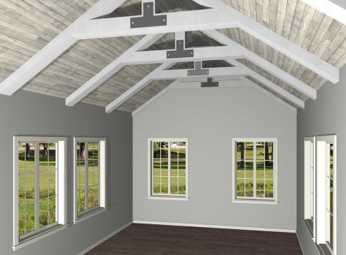 Image Result For Open Rafter Hip Roof Ceiling