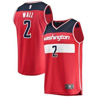 f445484fd6da3 John Wall Washington Wizards Fanatics Branded Fast Break Replica Jersey Red  - Icon Edition