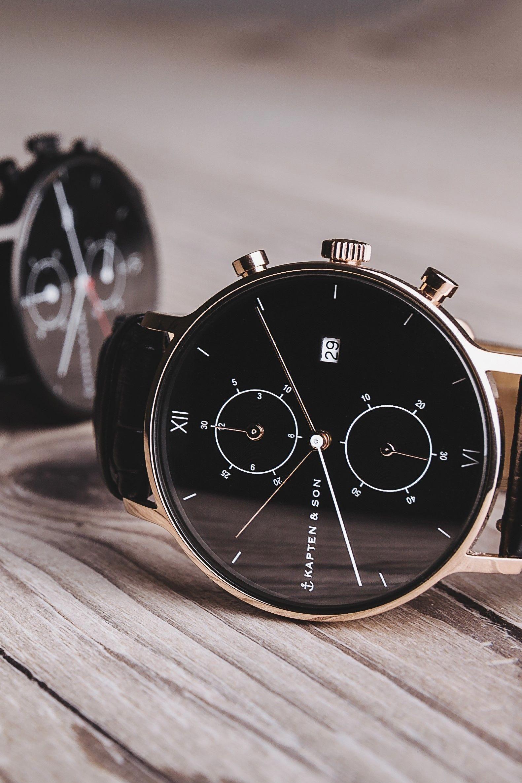 Chrono All Black Croco Modische Armbanduhren Uhren Herren Und