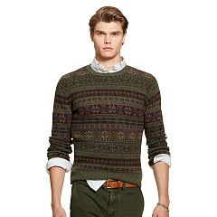 Fair Isle Wool-Blend Sweater - Polo Ralph Lauren Crewneck ...