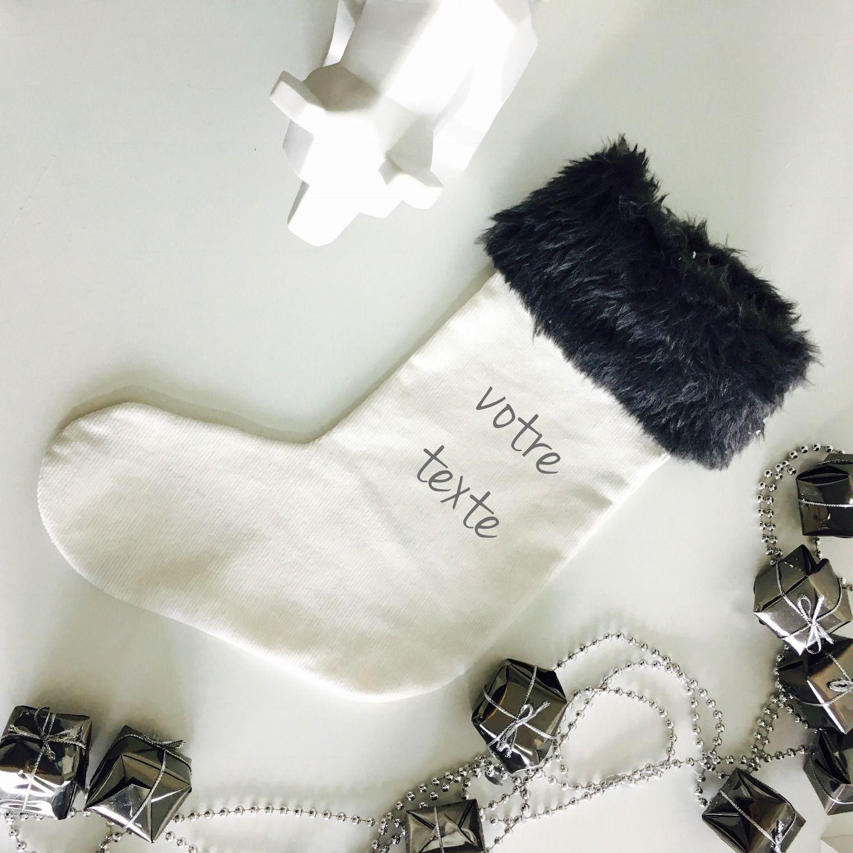 Botte / chaussette de Noël personalisable