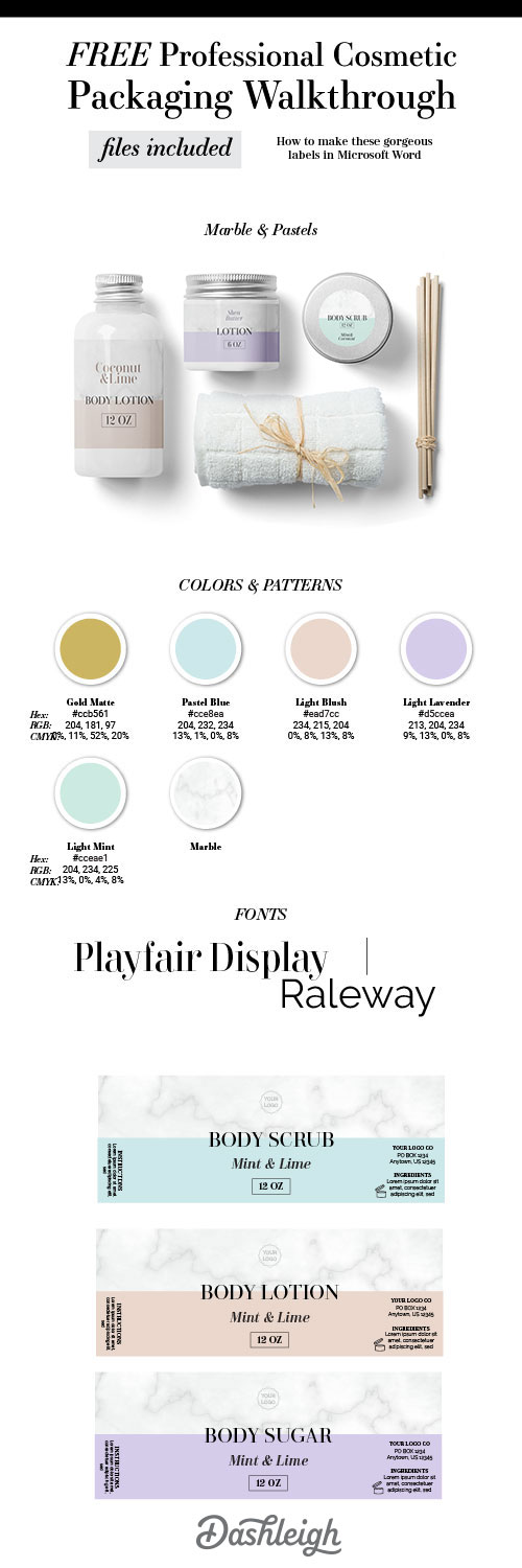 Free Download Label Templates Microsoft Word Free Marble And Pastel Cosmetic Product Design Template  Essential .