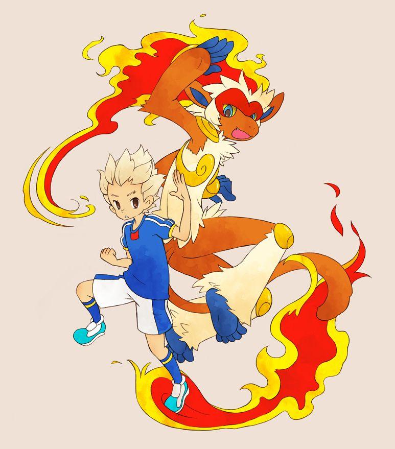 0328uppi, Inazuma Eleven, Pokémon, Gouenji Shuuya, Infernape