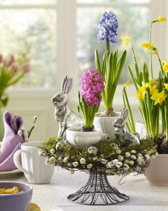 50 Elegant Easter Decor Ideas For An Unforgettable Celebration Easter Flower Arrangements Easter Table Centerpieces Easter Flowers