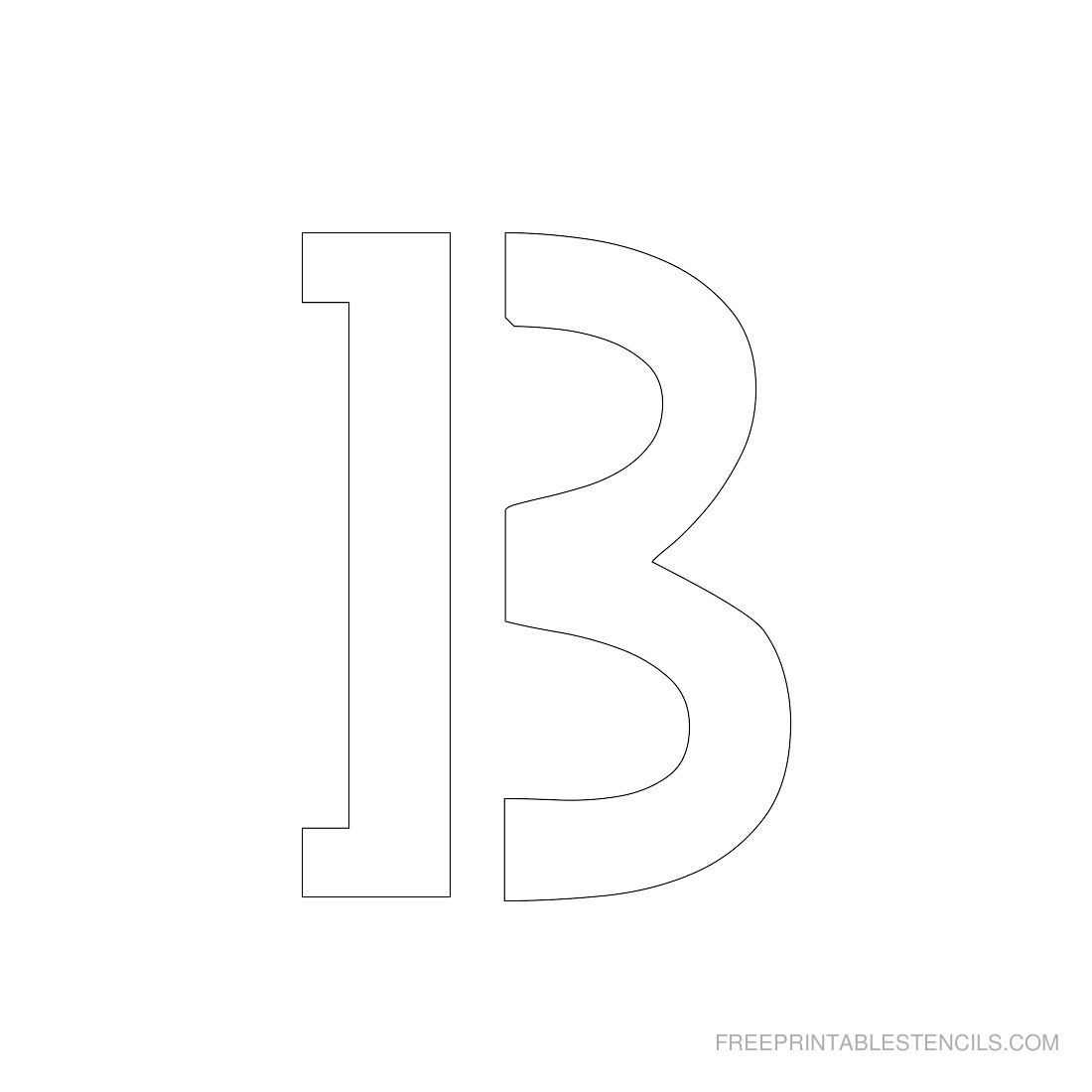 printable 3 inch letter stencils
