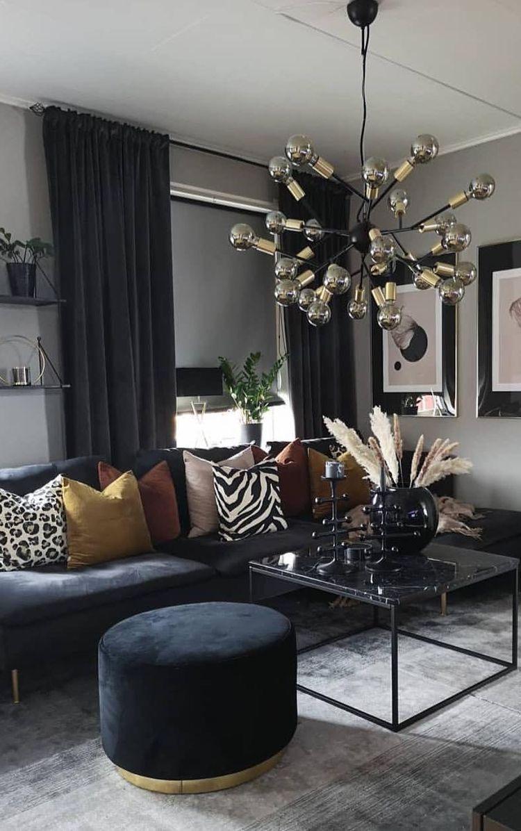 Kreutzer Ivory Dark Charcoal Area Rug Black Living Room Decor Gold Living Room Black Sofa Living Room