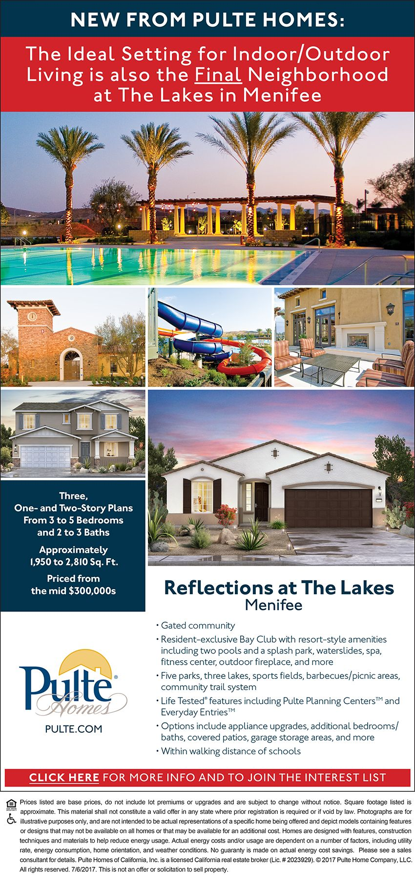 New Homes For Sale In Menifee, California Coming Soon: Pulte Reflections At  The Lakes