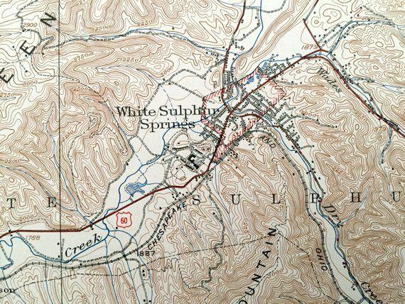 Antique White Sulphur Springs, West Virginia 1939 US