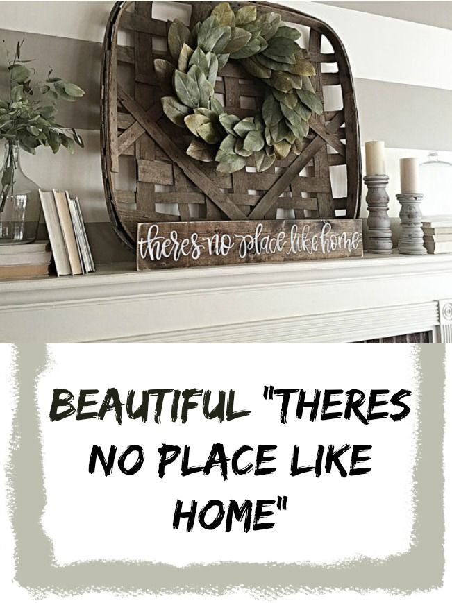 No Place Like Home | Rustic Home Decor | Wood Sign | Hand Painted ...