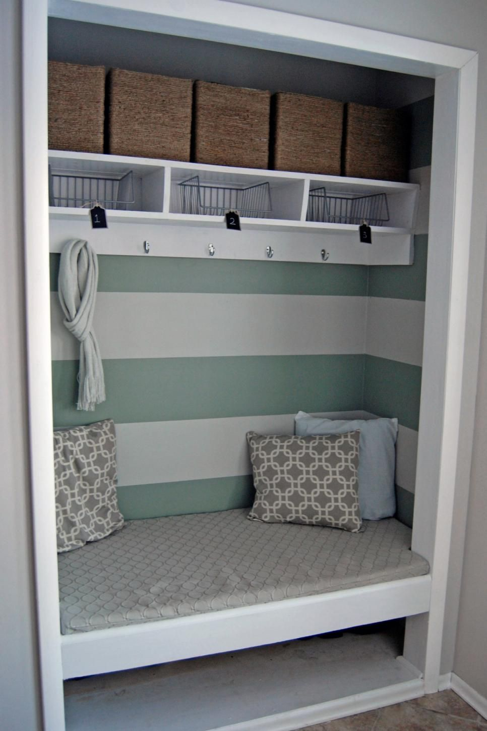 Even the tiniest closet can hold tons of stuff and still