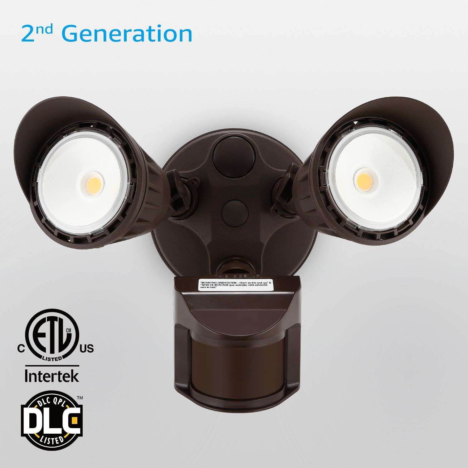 Dual head motion activated led outdoor security light waterproof dual head motion activated led outdoor security light waterproof photocell included aloadofball Images