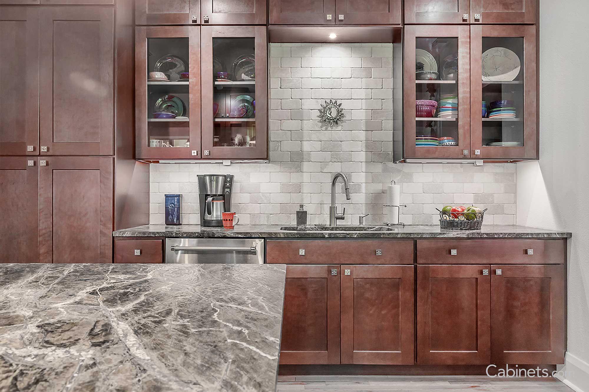 shaker cherry java kitchen renovation kitchen discount cabinets on kitchen cabinets java id=61375