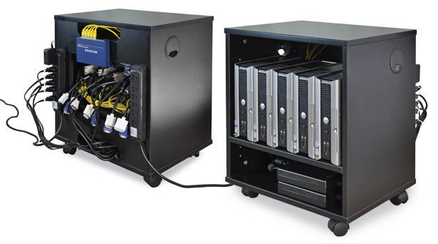 AV Equipment Mobile Cabinet For CPU Storage, Great For Teleconferencing