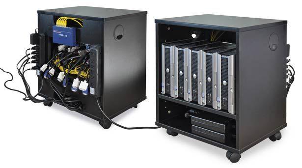 Delightful AV Equipment Mobile Cabinet For CPU Storage, Great For Teleconferencing