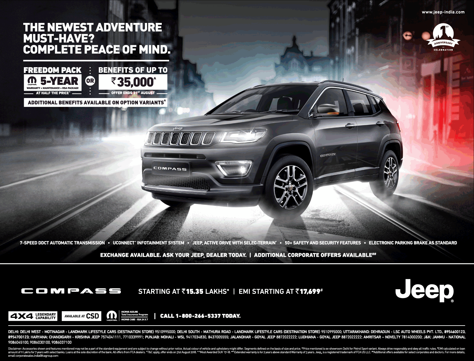 Jeep Compass The Newest Adventure Ad Times Of India Delhi Check