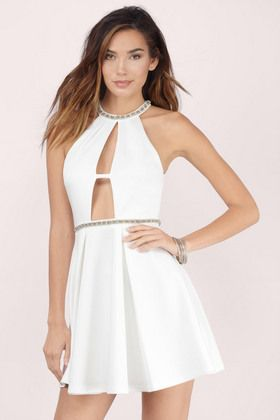 For Infinity Embellished Skater Dress