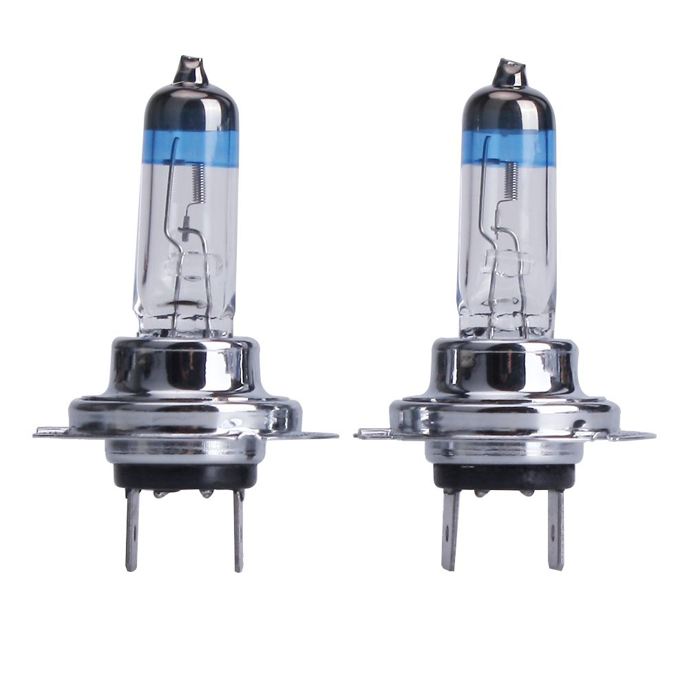 2pcs 4300k 5500k Super White H7 55w 12v Xenon Halogen Lamp H7 Fog Halogen Bulb Car Light Source Auto Car Lights Headlight Bulbs Car Headlights