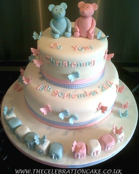 Christening Cake Designs For Twins : boy girl twin cake Specialised Celebration Cakes - Girls ...