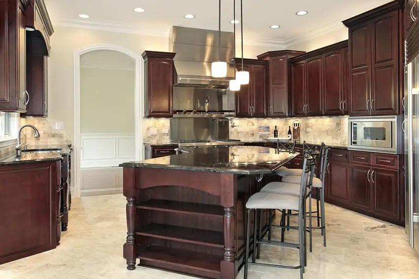 25 Cherry Wood Kitchens Cabinet Designs Ideas Cherry Wood Kitchen Cabinets Cherry Wood Kitchens Dark Wood Kitchen Cabinets