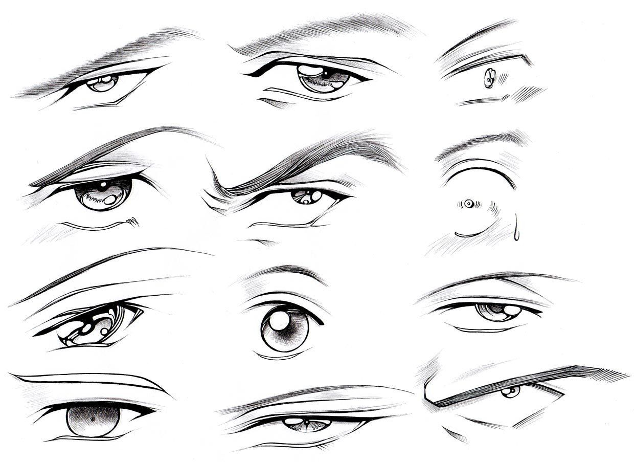 Pin By Hugo Costa On Body Manga Eyes Guy Drawing Male Eyes