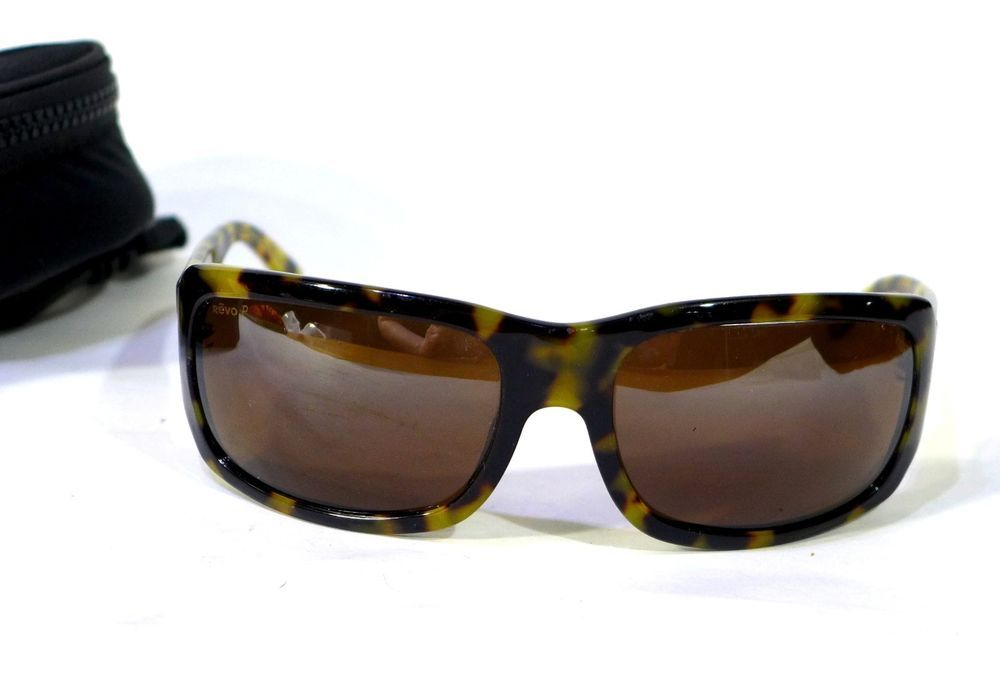da7ad6256cdca Revo Sunglasses 2041 302 J4 Dark Tortoise Frame with Brown Polarized Lens    Case