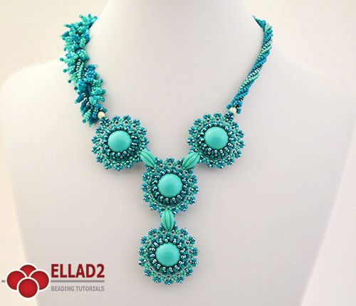 Tutorial It Just Blooms Necklace  Beading tutorial by Ellad2